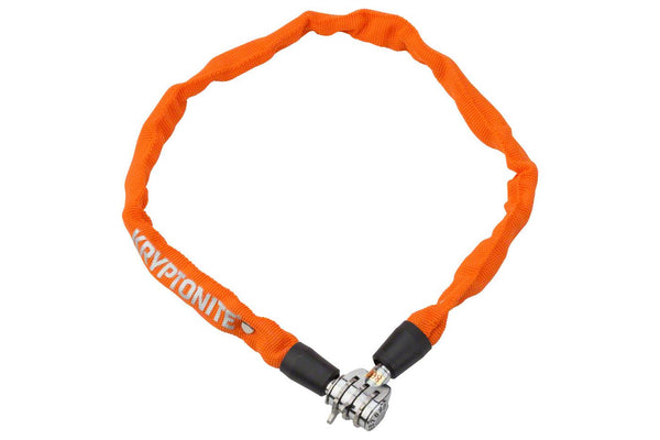 Kryptonite Keeper 465 Chain Lock with 3-Digit Combo: 2.13' x 4mm Orange