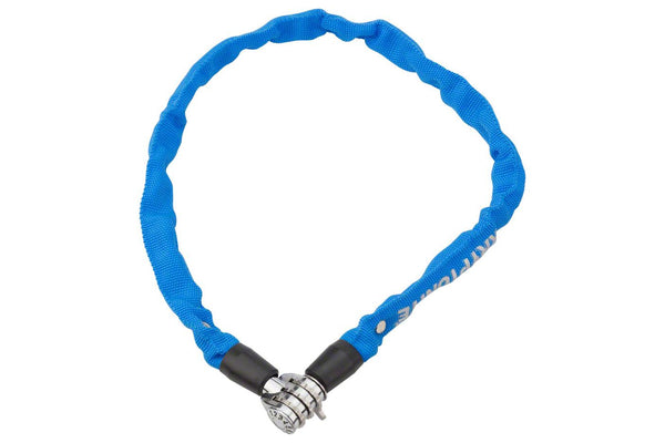 Kryptonite Keeper 465 Chain Lock with 3-Digit Combo: 2.13' x 4mm Blue