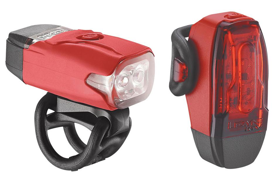 Lezyne LED KTV Drive Headlight and Taillight Set: Red