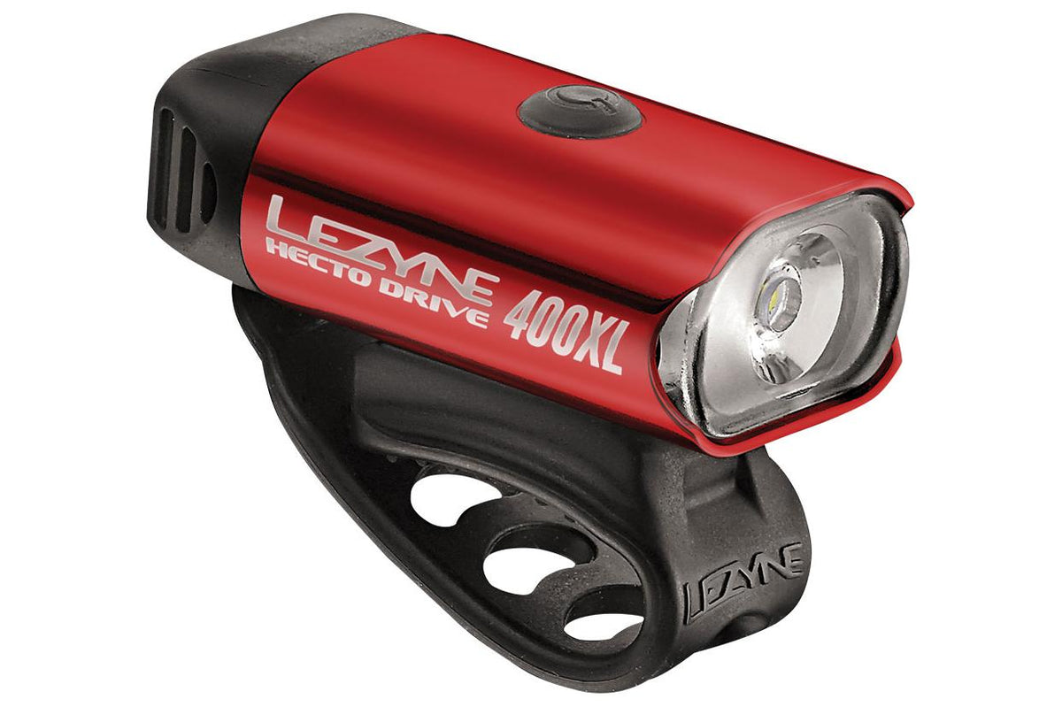 Lezyne Hecto Drive 400XL Headlight: Gloss Red