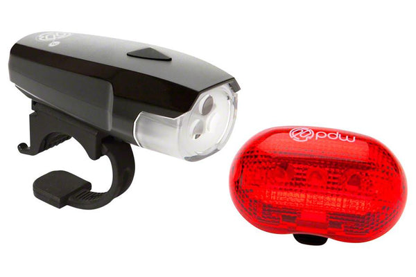 Portland Design Works Spaceship 3 Headlight and Red Planet Taillight Set