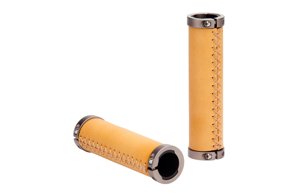 Premium Leather Single Speed Grip Set