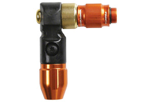 Lezyne ABS-1 Pro HV Chuck Head: Orange/Black
