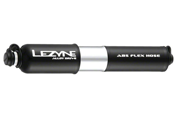 Lezyne ABS Alloy Drive Frame Pump, Small:  Black/Polished Silver
