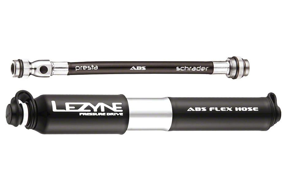 Lezyne ABS Pressure Drive Mini Frame Pump, Small: Black/Polished Silver