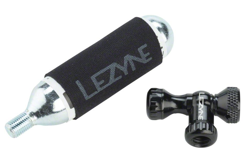 Lezyne Control Drive Co2 with 25 gram cartridge and machined Slip Fit Chuck, Black