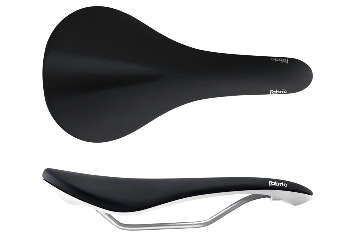 Fabric Scoop Elite Shallow Saddle: Black/White