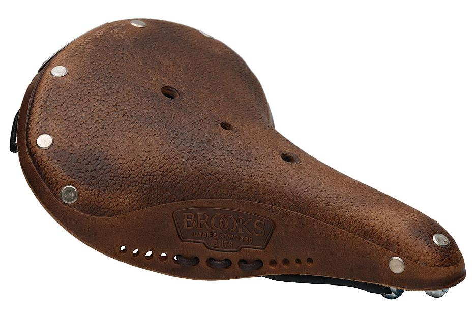 Brooks B17 S Women's Aged DarkTan with black steel rails