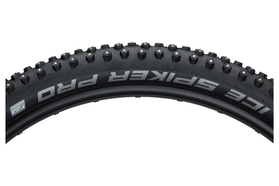 Schwalbe Ice Spiker Pro Tire 27.5 x 2.25, Wire Bead, Performance Line, Winter Compound, RaceGuard, 378 Steel Studs, Black