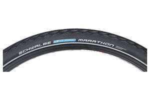 Schwalbe Marathon Tire 700 x 28, Wire Bead, Performance Line, Endurance  Compound, GreenGuard, Black/Reflect