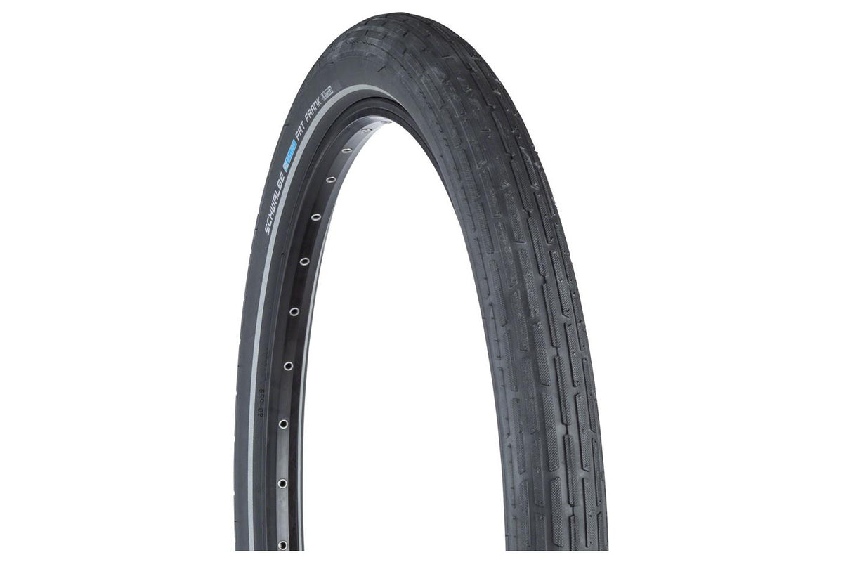 Schwalbe Fat Frank Tire 26 x 2.35, Wire Bead, Active Line, Basic Compound, K-Guard, Black/Reflect