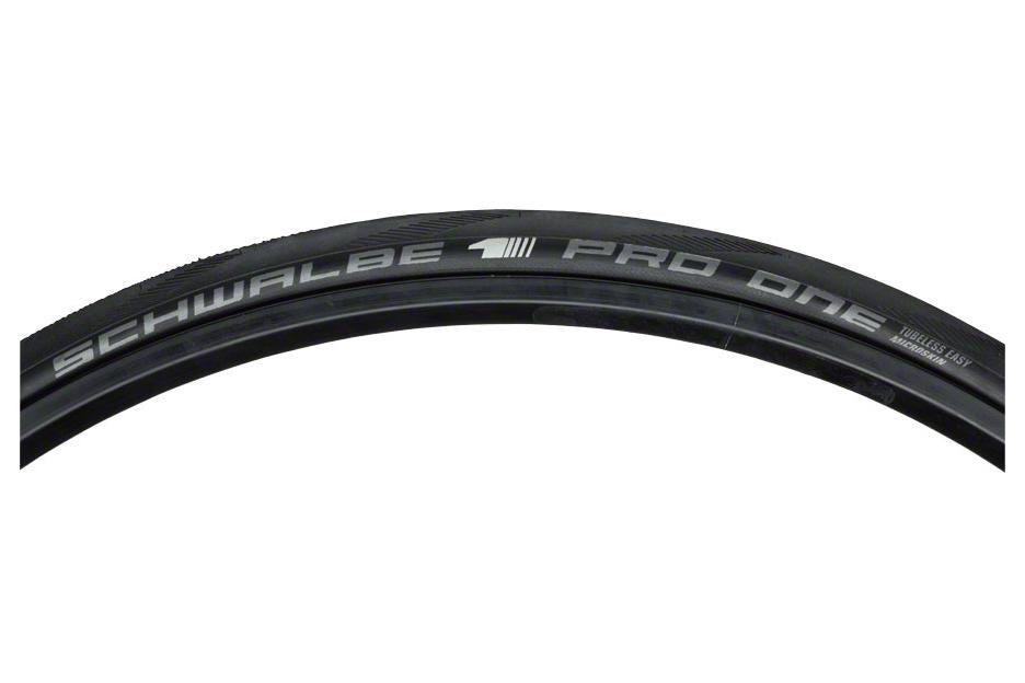 Schwalbe Pro One Tire 700 x 23, Folding Bead, Evolution Line, OneStar Compound, MicroSkin, Tubeless Easy, Black