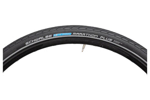 Schwalbe Marathon Plus Tire 700 x 38, Wire Bead, Performance Line, Endurance  Compound, SmartGuard, Black/Reflect
