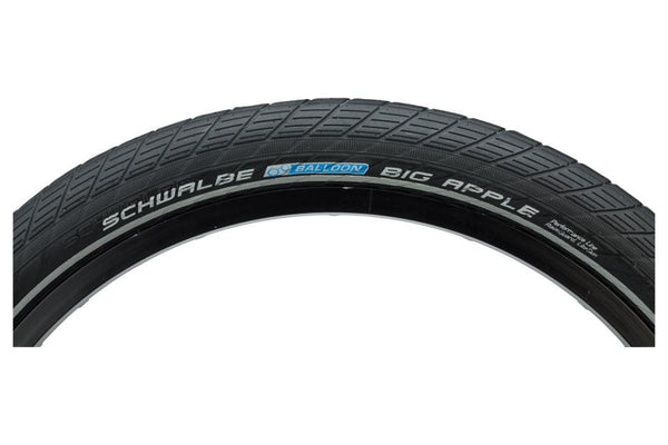 Schwalbe Big Apple Tire 20 x 2.00, Wire Bead, Performance Line, Endurance  Compound, RaceGuard, Black/Reflect