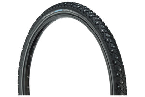 Schwalbe Marathon Winter Plus Tire 26 x 2.00, Wire Bead, Performance Line, Winter Compound, SmartGuard, TwinSkin, 200 Steel Studs, Black/R