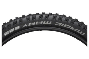 Schwalbe Magic Mary Tire 27.5 x 2.80, Folding Bead, Evolution Line, Addix Soft Compound, SnakeSkin, Tubeless Easy, Apex , Black