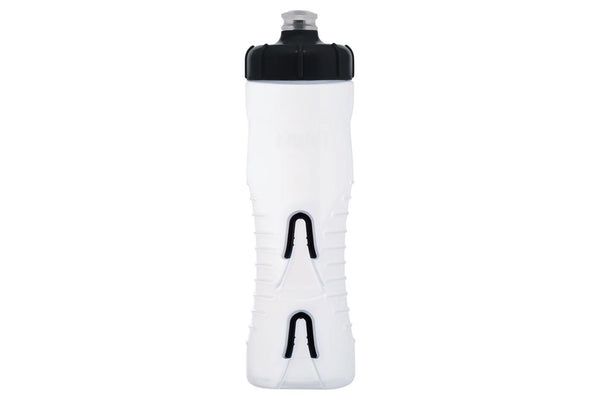 Fabric Cageless Water Bottle: 750ml, Clear/Black