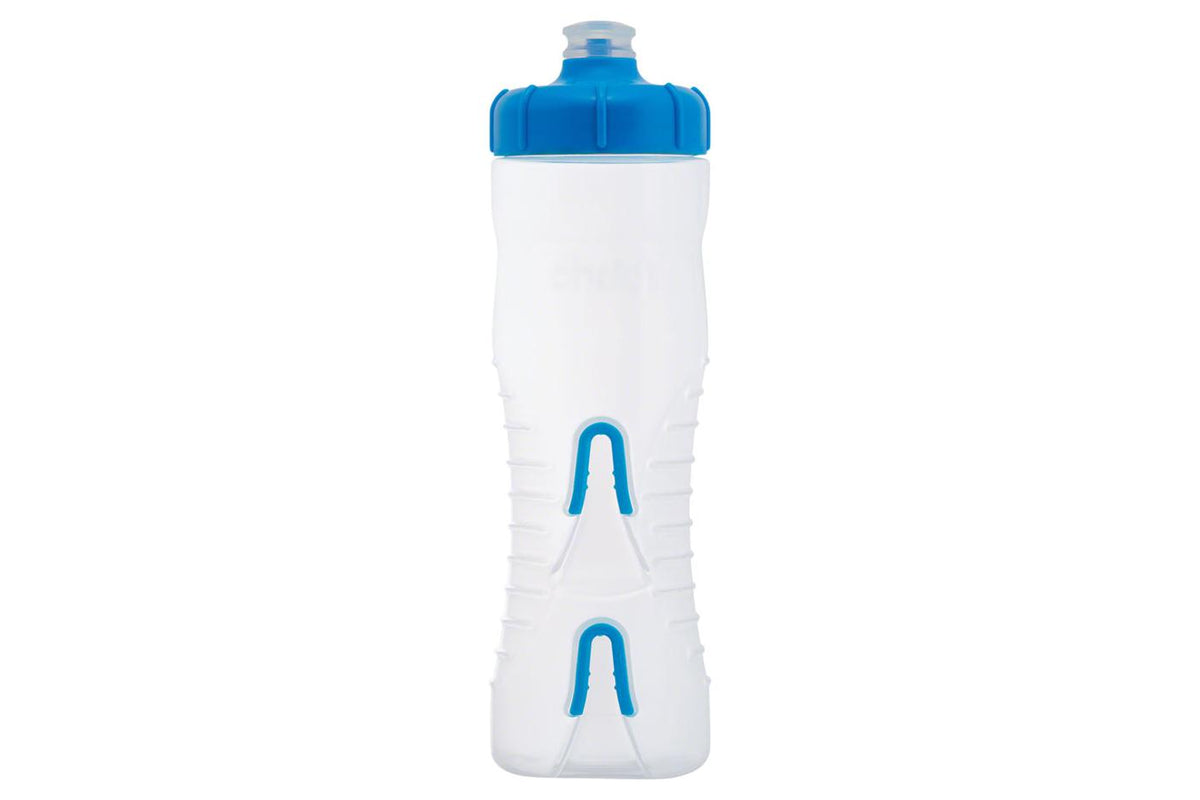 Fabric Cageless Water Bottle: 750ml, Clear/Blue
