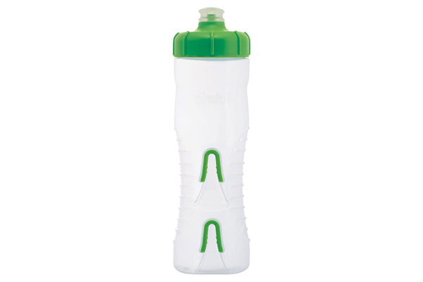 Fabric Cageless Water Bottle: 750ml, Clear/Green