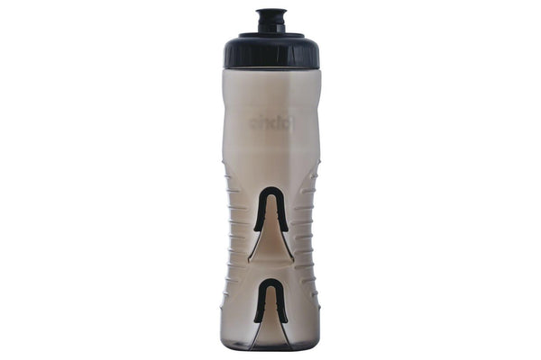 Fabric Cageless Water Bottle: 750ml, Black/Black