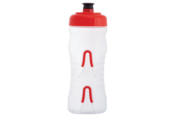 Fabric Cageless Water Bottle: 600ml, Clear/Red