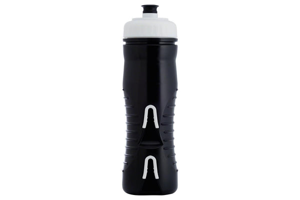 Fabric Cageless Insulated Water Bottle: 525ml, Black