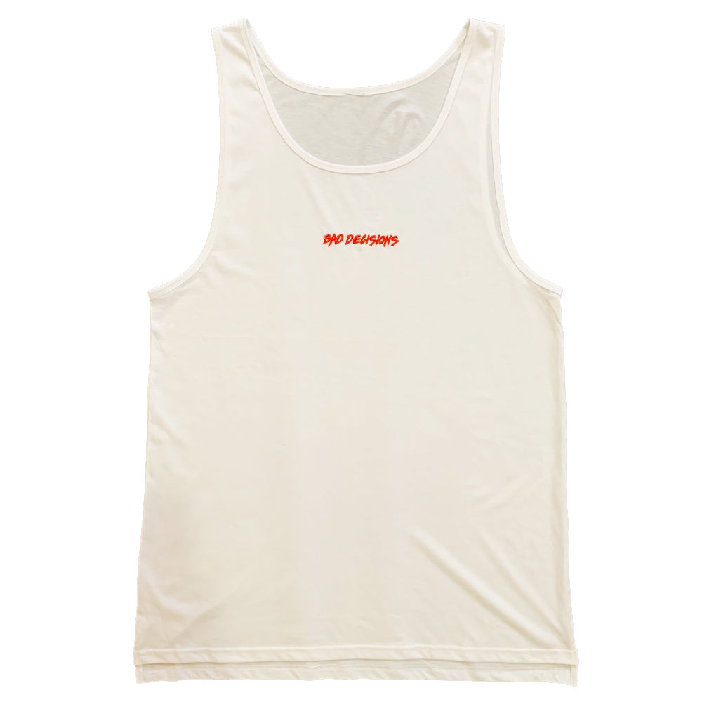Bad Decisions Singlet - White