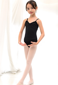 Kids to Adult - New Season Basic strap leotard (Black)