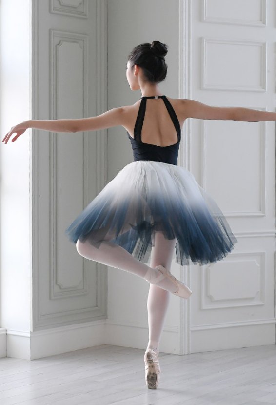 Junior/Adult - Gradation Short Tutu (Charcoal)