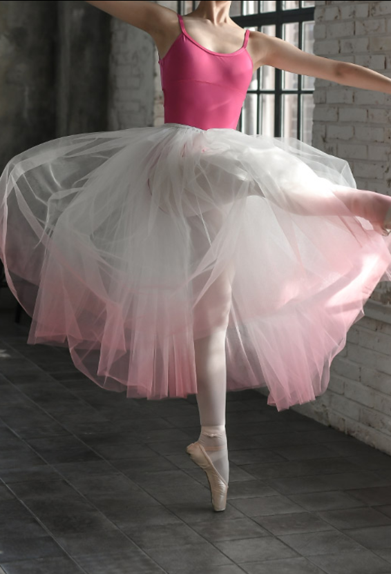 Junior/Adult - Gradation Long Tutu (Pink)
