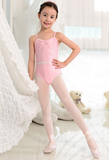 Silver belt basic strap leotard (Pink / Silver)