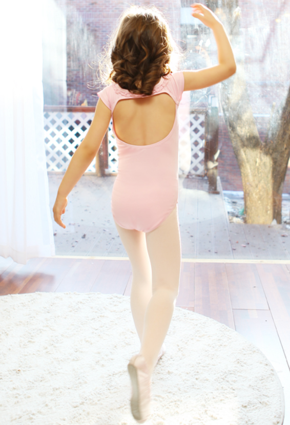 Back pointe leotard (Pink)