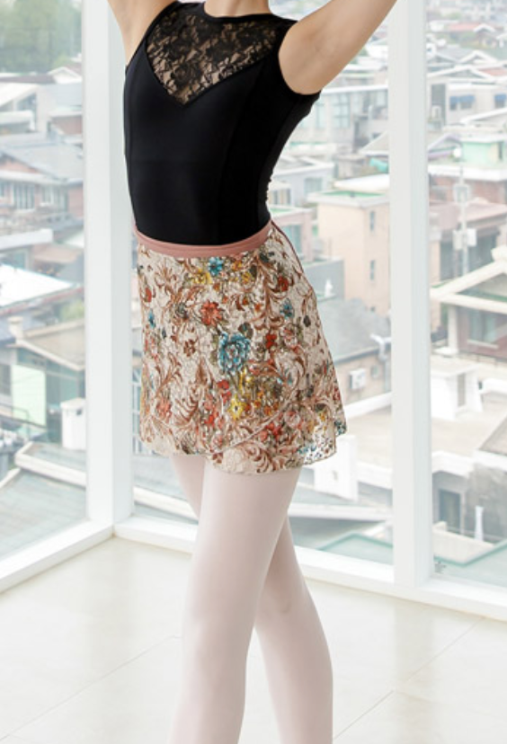 Fobene - Flower pattern wrap skirt
