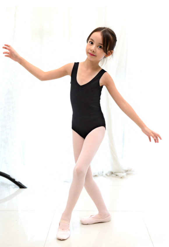 Kids/Junior - Basic sleeveless leotard (Black)