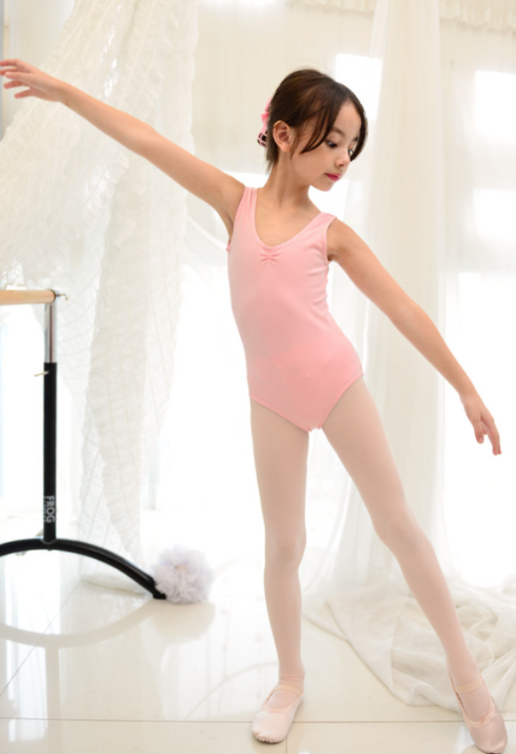 Kids/Junior - Basic sleeveless leotard (Pink)