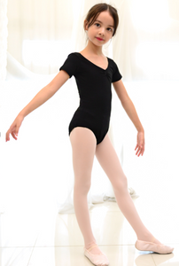 Kids/Junior - Short Sleeve Basic Leotard