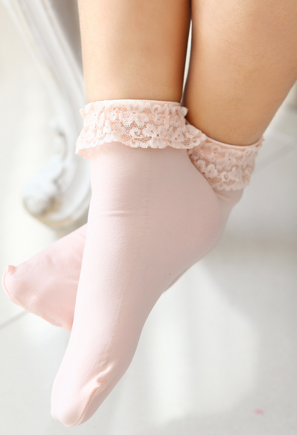 Lace frill anklet