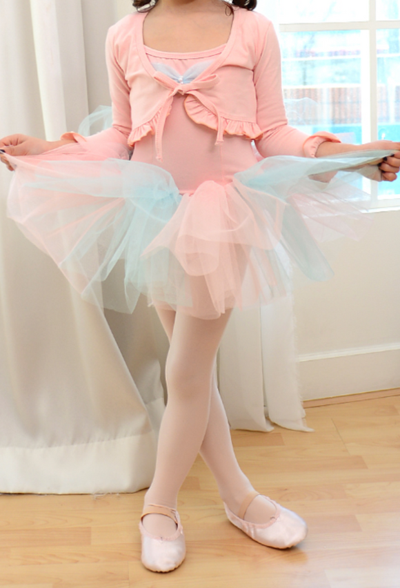 Romantic frill bolero (Peach)