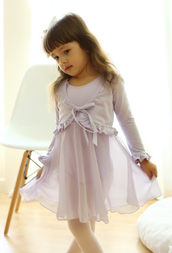 Romantic frill bolero (Purple)