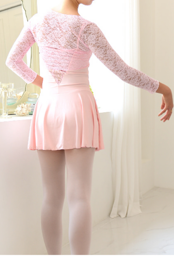 Junior/Adult - Rose embroidery bolero (Pink)