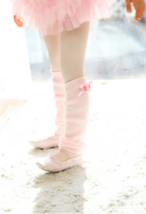 Kids - Flower ribbon leg warmer