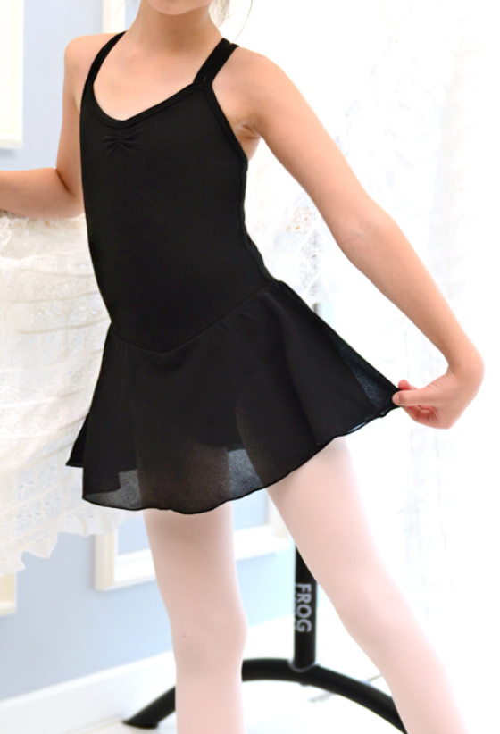 Kids/Junior - Basic double strap leotard (Black)
