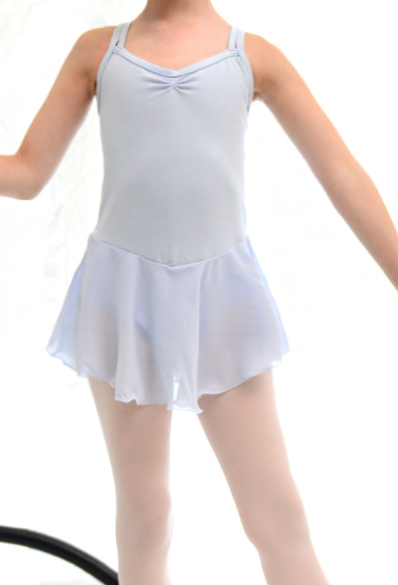 Kids/Junior - Basic double strap leotard (Blue)
