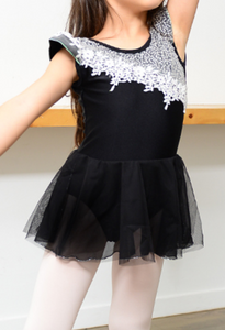 Kids/Junior -  Lace chiffon tunics (Black)