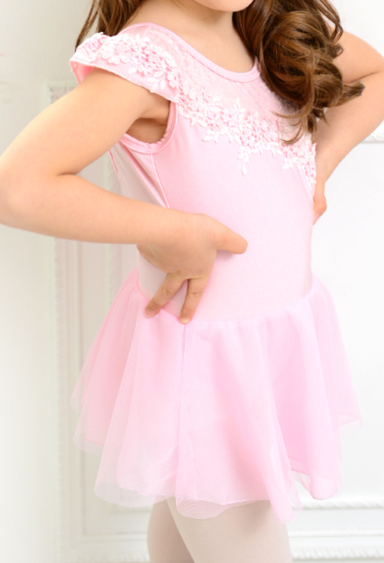 Kids/Junior -  Lace chiffon tunics (Pink)