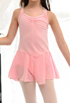 Kids/Junior - Basic double strap leotard (Pink)