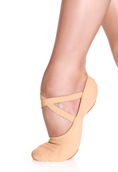 So Danca - SD16 Stretch Canvas Split Sole (Nude)
