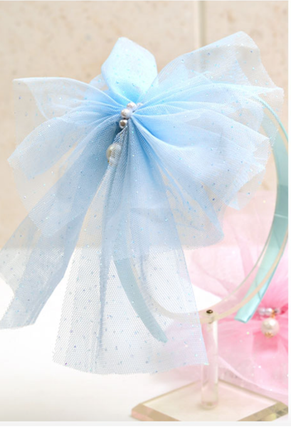 Pearl ribbon hairband (2 Colour)