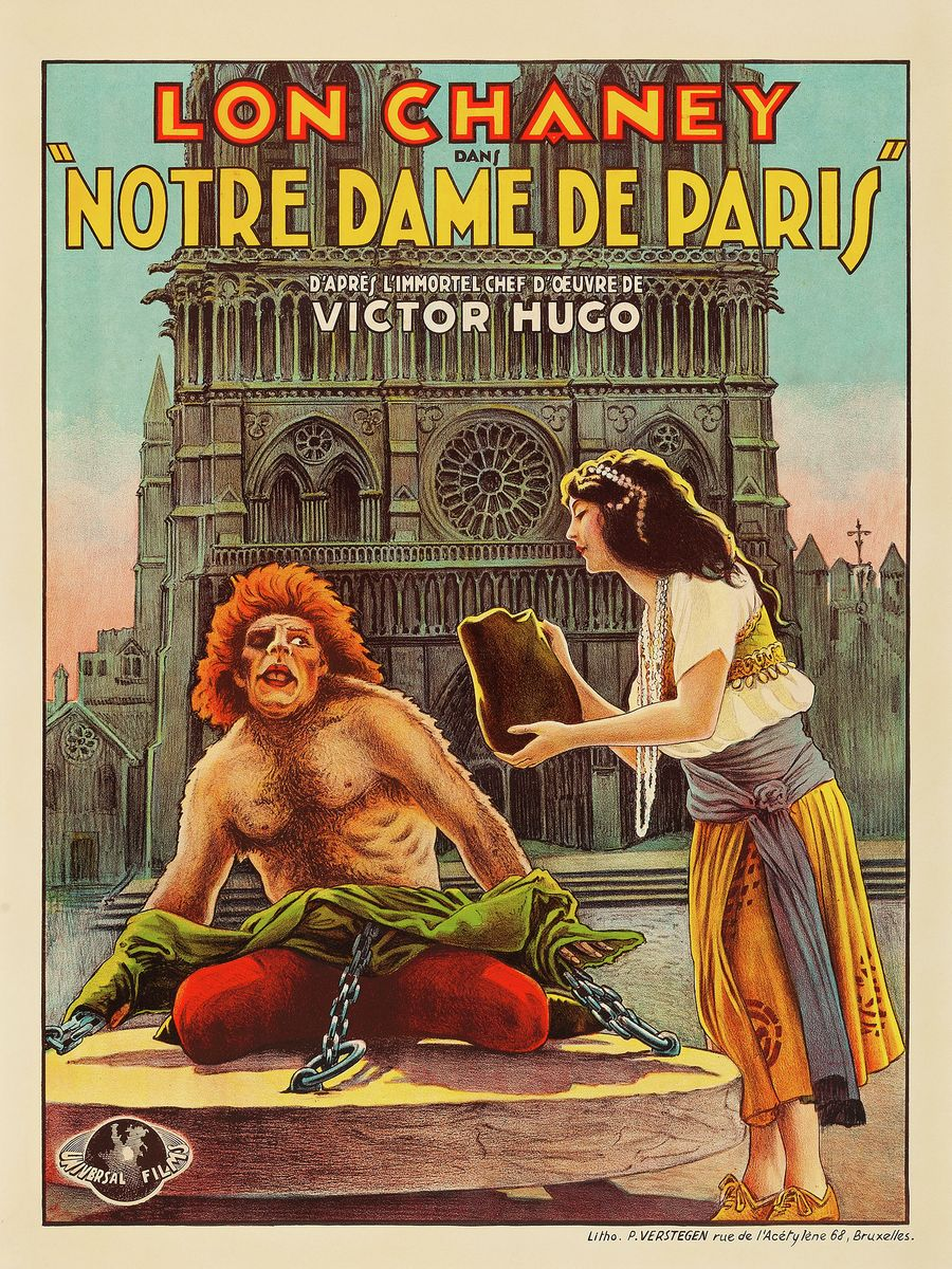 French Poster for Hunchback of Notre Dame - 1923