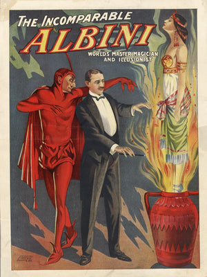 Albini the Magician Poster - 1911